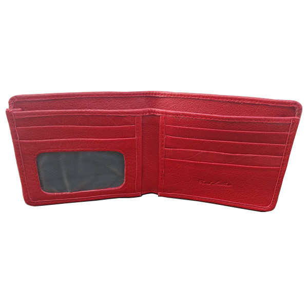 10 Pockets Red Leather Wallet For Men (MAW-735F-RR)