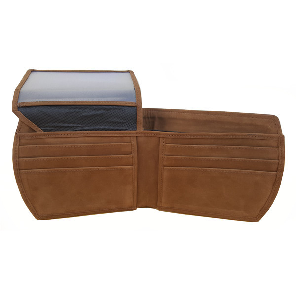 11 Pockets Dark Brown Nubuck Style (Velvet Type) Leather Wallet For Men (Limited Edition) (MAW-NB-02)
