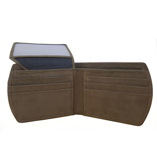 11 Pockets Dark Commando Nubuck Style (Velvet Type) Leather Wallet For Men (Limited Edition) (MAW-NB-05)