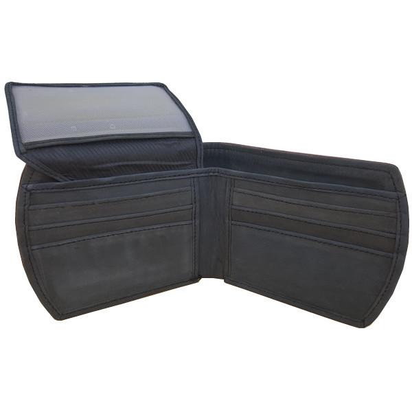 11 Pockets Nubuck Style (Velvet Type) Black Leather Wallet For Men (Limited Edition) (MAW-NB-06)