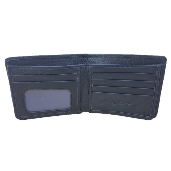 10 Pockets Black Leather Wallet for men (MAW-735F-B)
