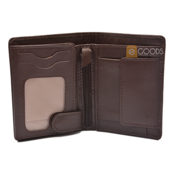 19 Pockets Dark Brown Leather Wallet For Men (MAW-JS4-BM)