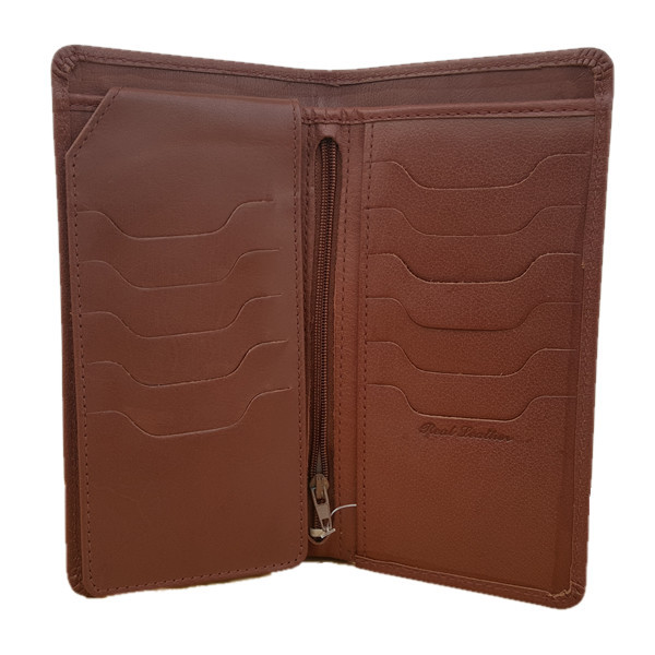 23 Pockets Dark Brown Long Leather Wallet for Men (MAW-DC2-MB)