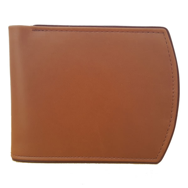 Curved Edges Leather Wallet with Maroon Borders For Men