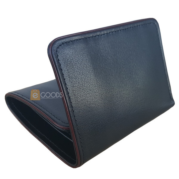 Round Edges Bi-Fold Black Wallet for Men (MAW-TFUP-SB)