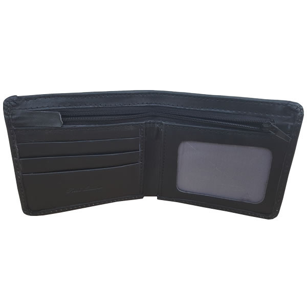 Sleek Black Leather Wallet for Men (MAW-DSII)