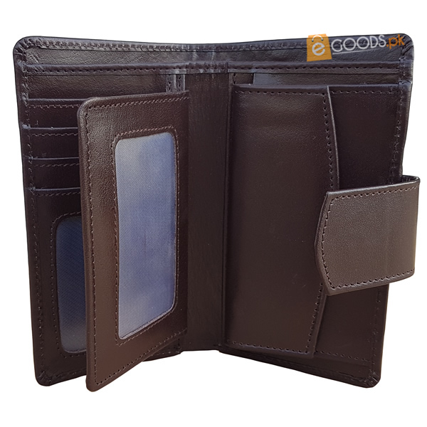 14 Pockets Brown Leather Wallet For Men (MAW-DC4-BM)