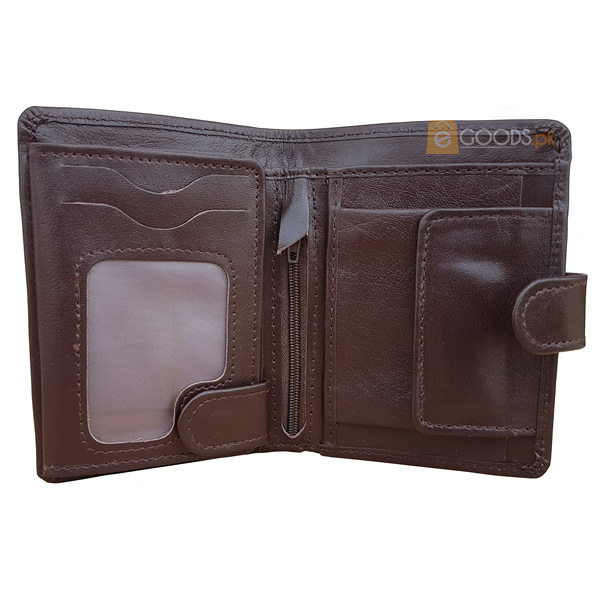 19 Pockets Dark Brown Leather Wallet with Strap For Men (MAW-JS4-SMB)