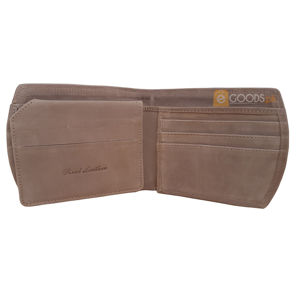11 Pockets Nubuck Style (Velvet Type) Greyish Brown Leather Wallet For Men (Limited Edition) (MAW-NB-07)