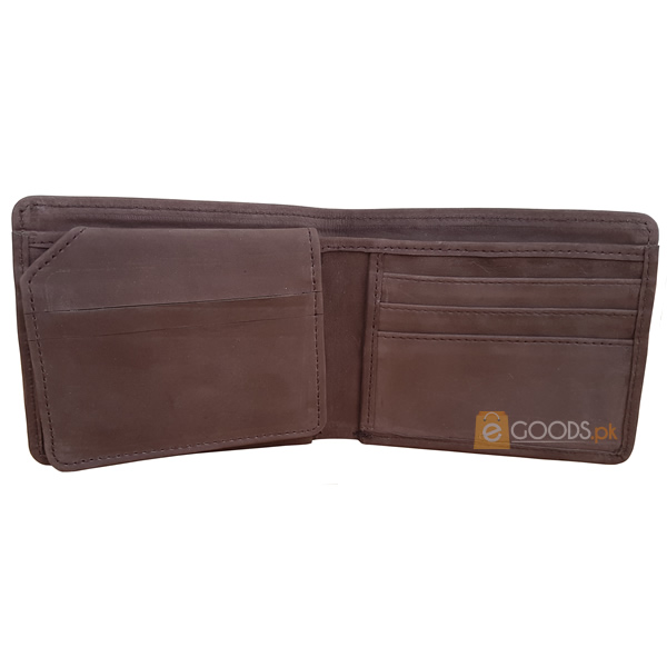 13 Pockets Chocolate Brown Nubuck Style (Velvet type) Wallet for Men (MAW-NB-09)