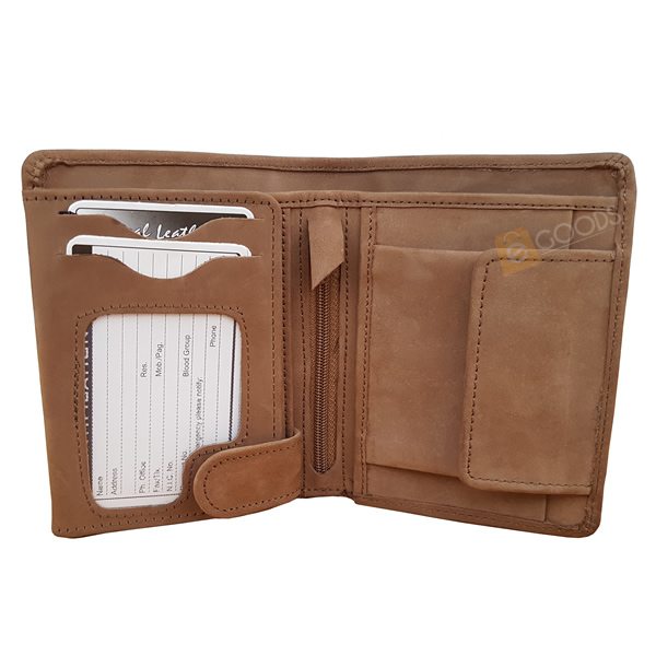 19 Pockets Nubuck Leather B Pair Wallet for Men