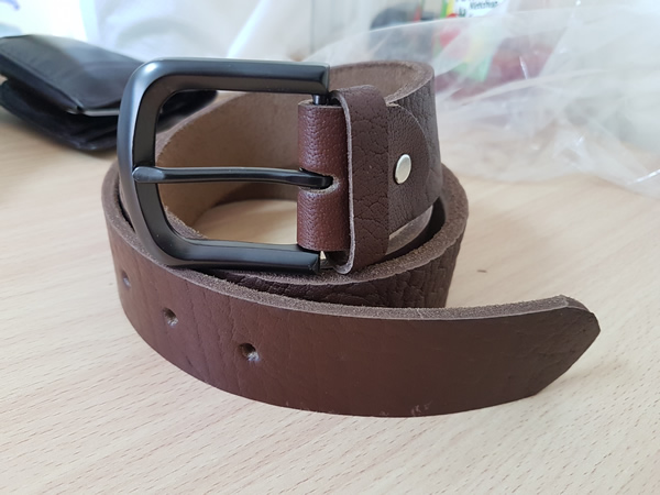 Casual Belt with Black Mattee Buckle