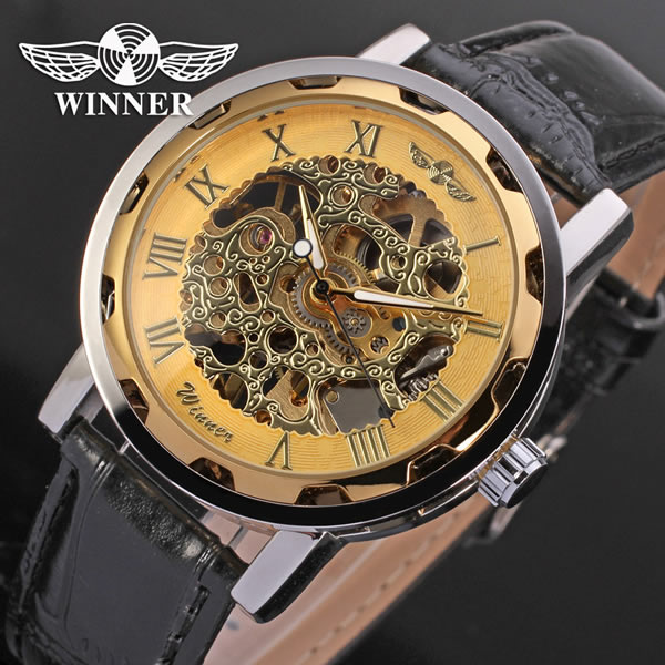 Fashion Winner Men Luxury Brand Automatic Watch
