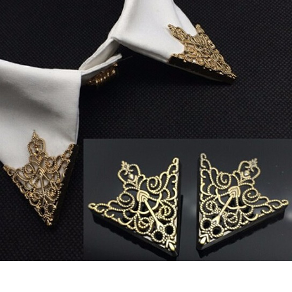 Unisex Fashion Triangular Brooch Pins