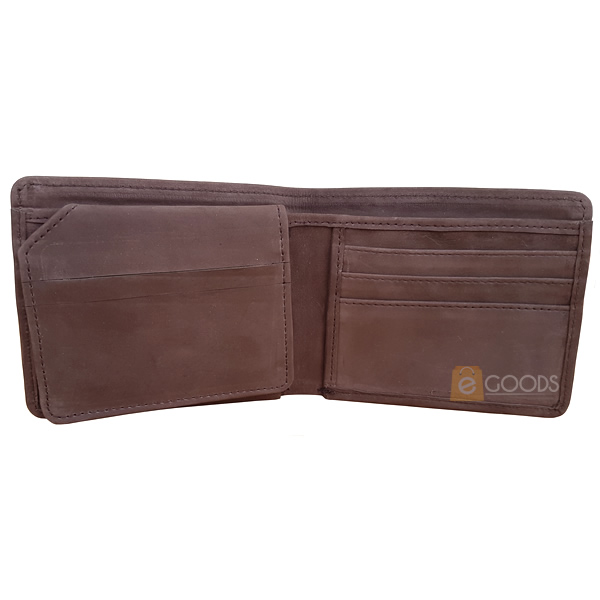 13 Pockets Nubuck Leather Wallet for Men
