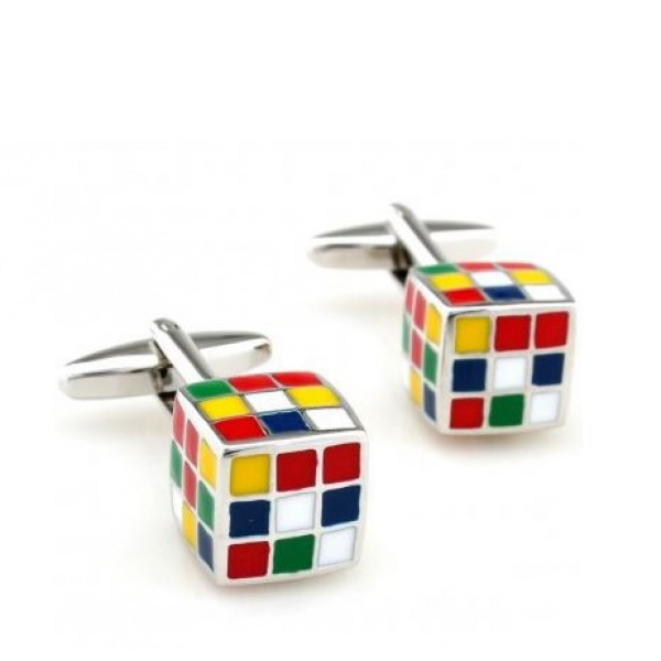 Magic Cube Cufflinks for Men