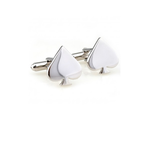 Cards Spade Shaped Cufflinks for Men