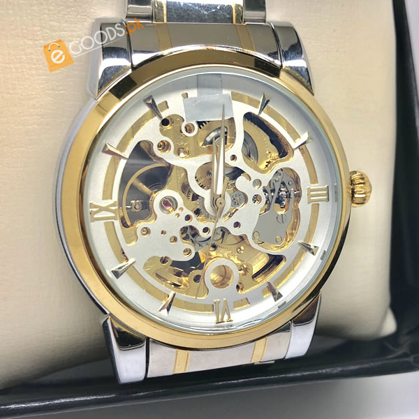 Elegant Diamonds Skeleton Watch For Mens