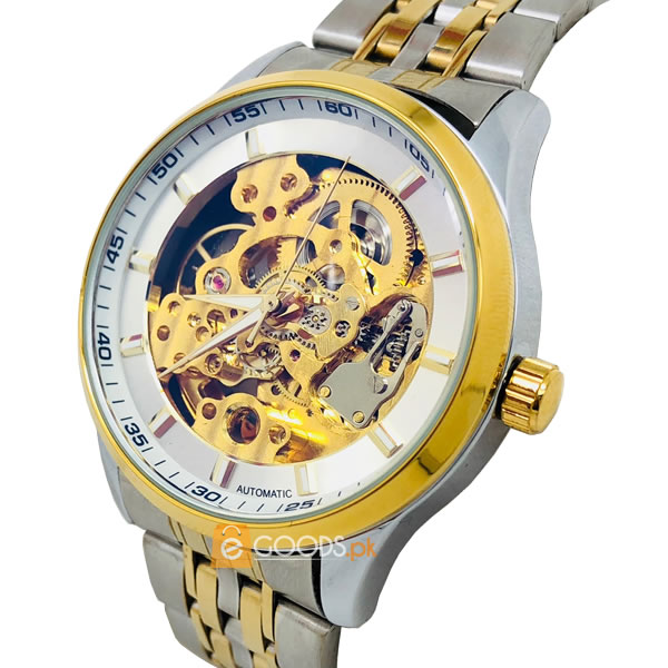 Elegant Jeweles Skeleton Watch For Men