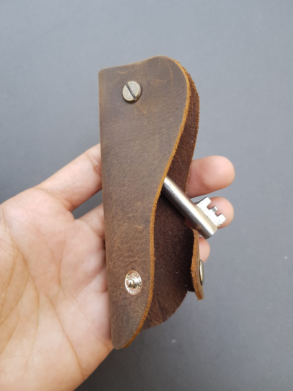 Pure Leather Mini Key Pouch